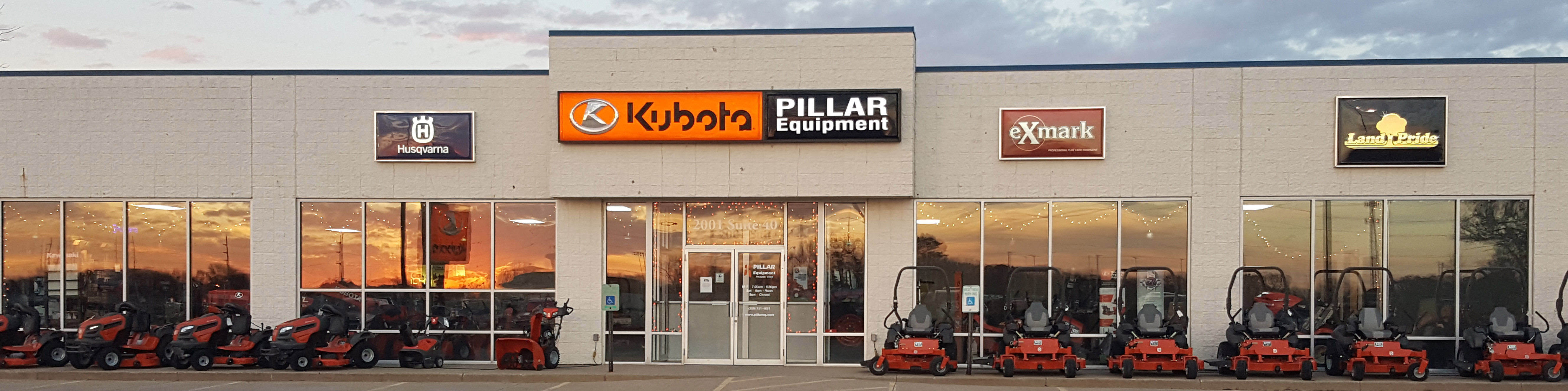 Pillar Equipment store front in Silvis, Illinois